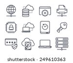 computer and network icons set... | Shutterstock .eps vector #249610363