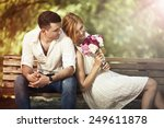 love and celebrate concept.... | Shutterstock . vector #249611878