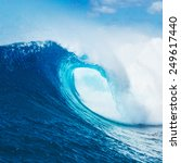 blue ocean wave  epic surf   Shutterstock . vector #249617440