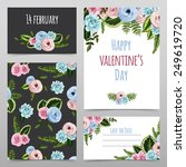 set of valentines cards with...   Shutterstock .eps vector #249619720