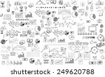 infographics collection hand... | Shutterstock .eps vector #249620788