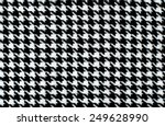 black and white houndstooth... | Shutterstock . vector #249628990