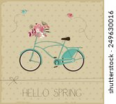 vintage card with bicycle | Shutterstock .eps vector #249630016