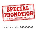 special promotion grunge rubber ...   Shutterstock .eps vector #249634369