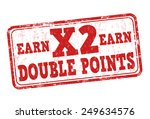 earn x2 double points grunge... | Shutterstock .eps vector #249634576