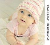 a cute little baby. newborn... | Shutterstock . vector #249644986