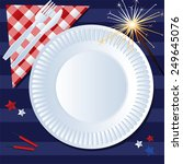 fourth of july picnic | Shutterstock .eps vector #249645076