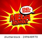 end of season mega blowout sale ... | Shutterstock .eps vector #249648970