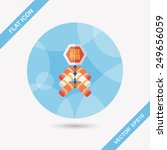 chinese new year flat icon ... | Shutterstock .eps vector #249656059