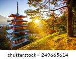 Chureito Pagoda With Sun Flare...
