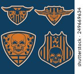 football team crests set with... | Shutterstock .eps vector #249669634