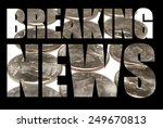 money  breaking news  | Shutterstock . vector #249670813