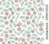 cute flower pattern with... | Shutterstock .eps vector #249672223