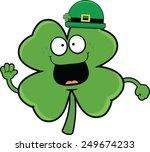 cartoon illustration of a happy ... | Shutterstock .eps vector #249674233