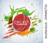 cricket championship concept... | Shutterstock .eps vector #249682714