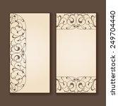 vector set of vintage labels or ... | Shutterstock .eps vector #249704440