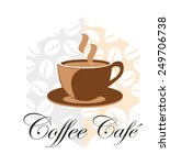 coffee cup icon flat design... | Shutterstock .eps vector #249706738