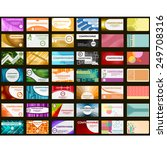 42 business cards in different... | Shutterstock .eps vector #249708316