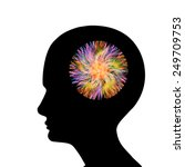 human head with abstract  brain ... | Shutterstock . vector #249709753