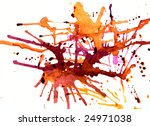 splashes of amber on white with ... | Shutterstock . vector #24971038