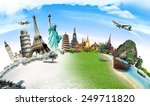 travel the world monument... | Shutterstock . vector #249711820