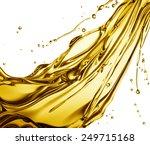 engine oil splashing isolated... | Shutterstock . vector #249715168