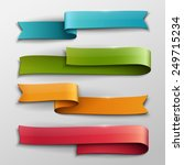 set of colorful vector ribbons. | Shutterstock .eps vector #249715234