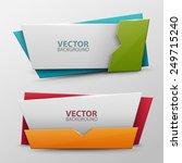 vector banners set | Shutterstock .eps vector #249715240