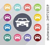 car circle  flat icons set.... | Shutterstock .eps vector #249715519