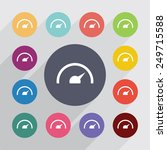 speedometer circle  flat icons... | Shutterstock .eps vector #249715588