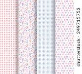 set of 4 seamless patterns.... | Shutterstock .eps vector #249715753