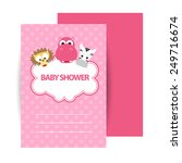 baby shower invitation. vector | Shutterstock .eps vector #249716674