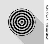 dartboard icon   black... | Shutterstock .eps vector #249717349