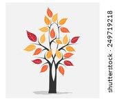 autumn tree icon vector | Shutterstock .eps vector #249719218