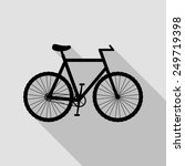 bicycle icon   black... | Shutterstock .eps vector #249719398