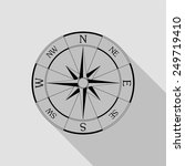 wind rose compass icon   black... | Shutterstock .eps vector #249719410