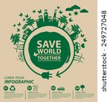 ecology concept. save world... | Shutterstock .eps vector #249727048