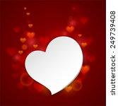 beautiful festive greeting card ... | Shutterstock .eps vector #249739408