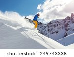 male skier on downhill free... | Shutterstock . vector #249743338