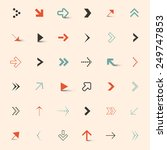 simple arrows set | Shutterstock . vector #249747853