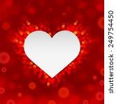 beautiful festive greeting card ... | Shutterstock .eps vector #249754450