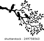 Tree Silhouette With Bird