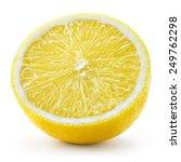 lemon fruit. half isolated on... | Shutterstock . vector #249762298