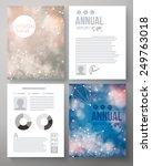 company report vector template... | Shutterstock .eps vector #249763018