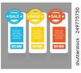 web sale banner set. vector | Shutterstock .eps vector #249775750