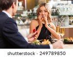 beautiful couple having... | Shutterstock . vector #249789850