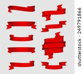 vector design elements  red... | Shutterstock .eps vector #249791866