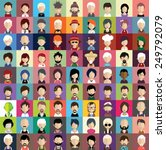 collection of avatars8   81 man ... | Shutterstock .eps vector #249792079