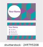 business card template | Shutterstock .eps vector #249795208
