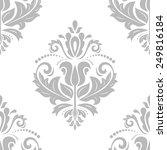 damask seamless pattern. vector ... | Shutterstock .eps vector #249816184